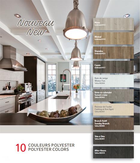 10 nouvelles couleurs Polyester